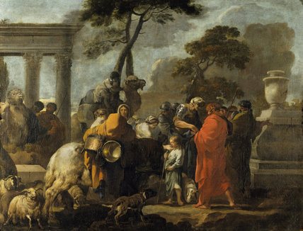 THE SELLING OF JOSEPH by Sebastien Bourdon (1616-71) from the Somerset Room at Petworth (Dec 1992)