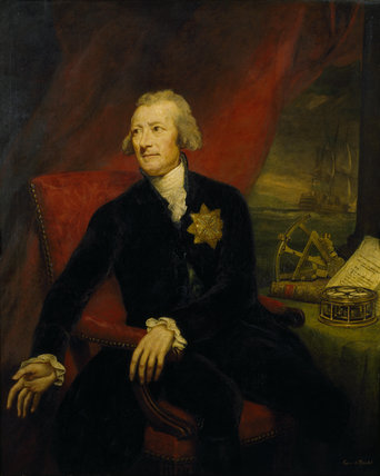 HANS MORITZ, COUNT BRUHL (1736-1809) by James Northcote (1746-1831) from the North Gallery at Petworth (Dec 1992)