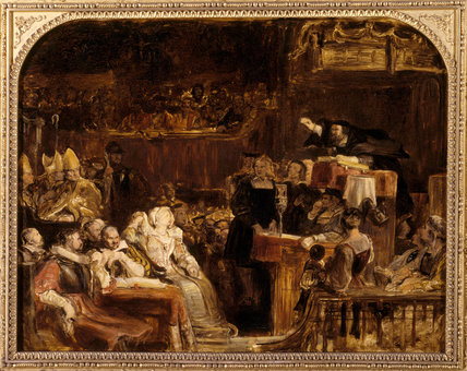 JOHN KNOX PREACHING BEFORE THE LORDS OF THE CONGREGATION, 10 JUNE 1559 by Sir David Wilkie (1785-1841) From the North Gallery at Petworth