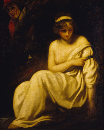 DAMON AND MUSIDORA by John Opie (1761-1807) Illustrating an episode in