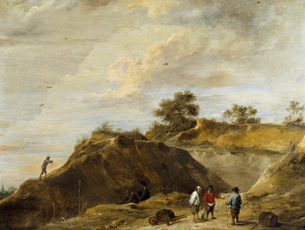 SAND QUARRY by David Teniers (1610-1690) from the Square Dining Room at Petworth House