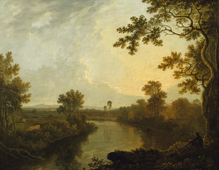 VIEW ON THE DEE NEAR EATON (1760) by Richard Wilson (1713/14-82) from the North Gallery at Petworth House (Dec 1992)