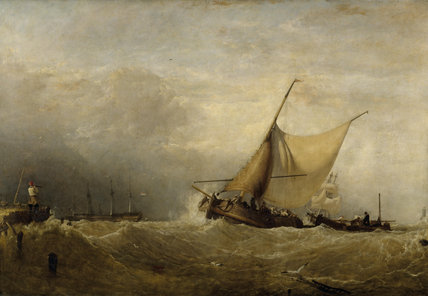 A SEAPIECE by Sir Augustus Wall Callcott (1779-1844) from the North Gallery at Petworth