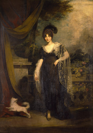 MRS ROBINSON (1803) by William Owen (1769-1825) from the North Gallery at Petworth (Dec 1992)