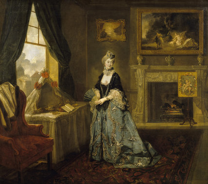 MRS ABINGTON (1737-1815) as the Widow Bellmour in 'The Way to Keep Him' by Arthur Murphy (c.1764) by Johann Zoffany (1733-1810).