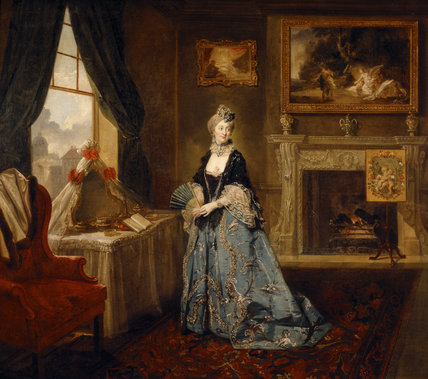 MRS ABINGTON (1737-1815) as the Widow Bellmour in 'The Way to Keep Him' by Arthur Murphy (c.1764) by Johann Zoffany (1733-1810)