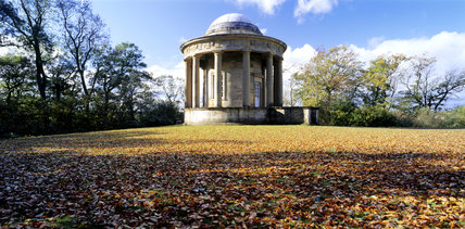 The Tuscan Temple at the south end of Rievaulx Terrace, autumn