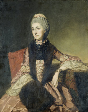 PORTRAIT OF A LADY, PROBABLY MARY FITZGERALD (died 1815), attributed to John Zoffany (1733-1810), daughter of John Hervey, Baron Hervey of Ickworth (1696-1743)