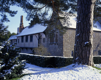 A winter scene at Ightham Mote in Kent