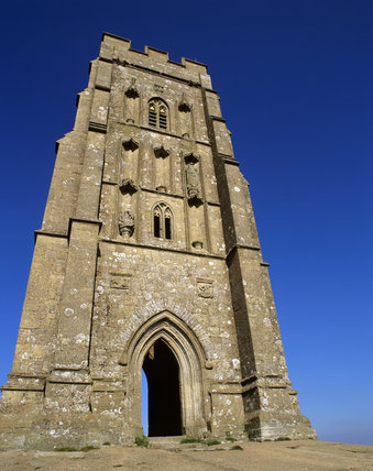 The Tower on the top of Glastonbury Tor, it is all that remains, from the C15th