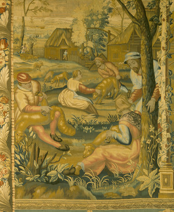 Clandon Park, The Saloon, Mortlake Tapestries,