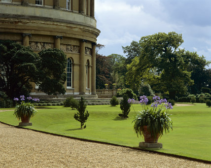 Gardens at Ickworth, showing part of The Rotunda