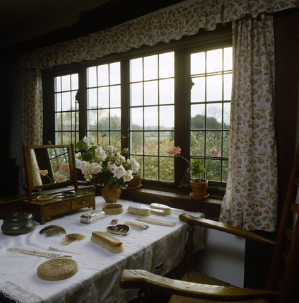 Smallhythe, Ellen Terry's Bedroom, her dressing table with combs and brushes displayed