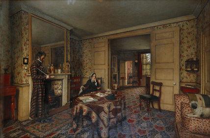 A CHELSEA INTERIOR by Robert Tait, 1857