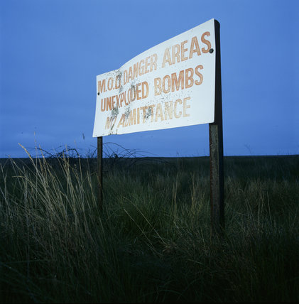 An old Ministry of Defence sign on Kings Marsh at Orford Ness