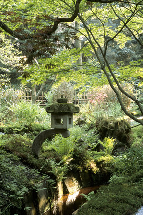 One of the many stone lanterns in the Japanese Garden at Tatton Park
