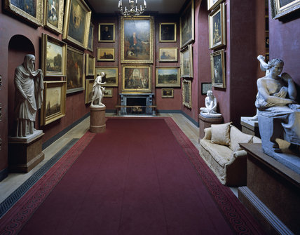 The central corridor in The North Gallery at Petworth