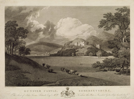 SOUTH VIEW OF DUNSTER CASTLE after Turner