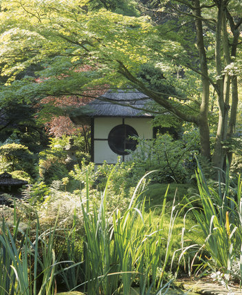 The Japanese Tea House in the Japanese Garden at Tatton Park