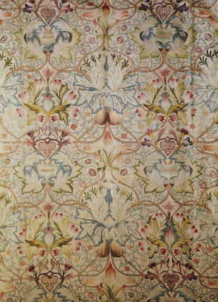 Standen, silk embroidery hanging by Mrs Beale from a design by William Morris