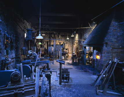 The metal working shop at the mill
