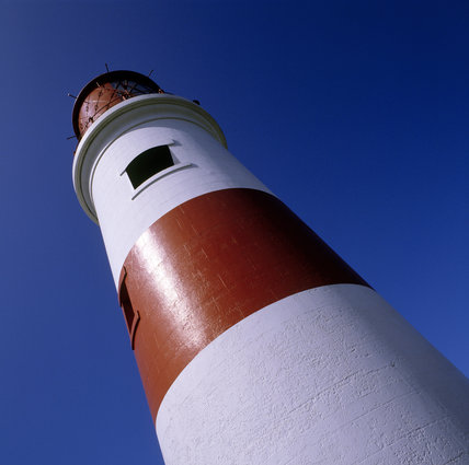 Close-up of the Souter Lighthouse