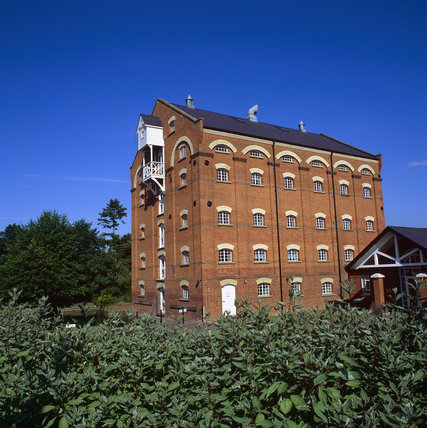 Nineteenth-century Stoke Mill on the River Wey Navigations, Surrey