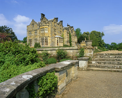 The new house at Scotney Castle, Kent viewed from the Bastion