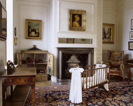 The Governess's Dayroom at Hanbury Hall, Worcestershire