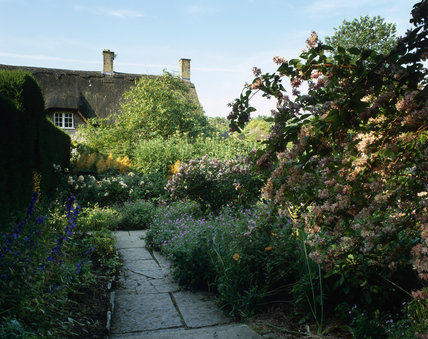 The Old Garden in high summer at Hidcote Manor Garden, Gloucestershire