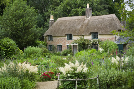 Hardy's Cottage, Dorchester, Dorset, dating from 1800, where Thomas Hardy was born in 1840