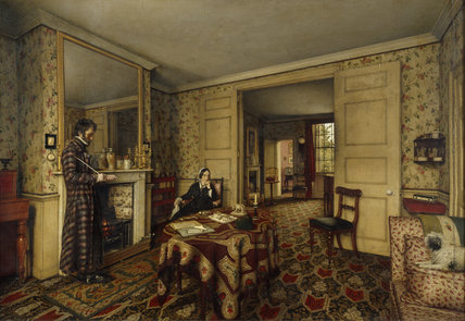 A CHELSEA INTERIOR by Robert Tait, 1857, in the Parlour at Carlyle's House, 24 Cheyne Row, London