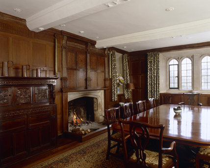 The Dining Room at Great Chalfield Manor, near Melksham, Wiltshire