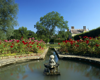 The pond in the Rose Garden at Bateman's, East Sussex, the home of author Rudyard Kipling from 1902 to 1936