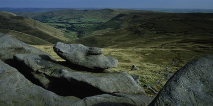 View of Edale from Edale Rocks at Kinder Scout