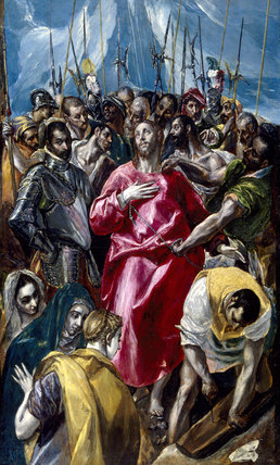 EL ESPOLIO or THE DISROBING OF CHRIST by El Greco at Upton House