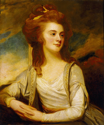 JEMIMA POLE CAREW (1734-1804) by George Romney (1763-1804) Granddaughter of Lord Chancellor Hardwicke & first wife (m