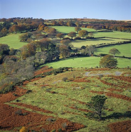Looking west from Luccombe Hill, over the surrounding fields