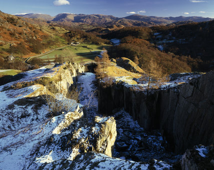 (FL) View from the top of Tilberthwaite quarries over part of the Monk Coniston Estate