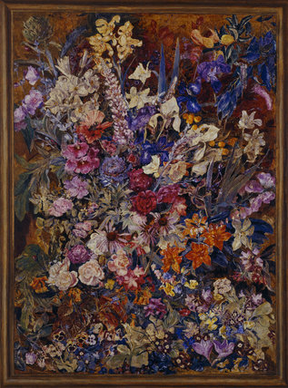 A STUDY OF FLOWERS by Lawrence Johnston at Hidcote, photographed post conservation