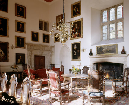 A view of the Great Hall at Clevedon Court looking north-west
