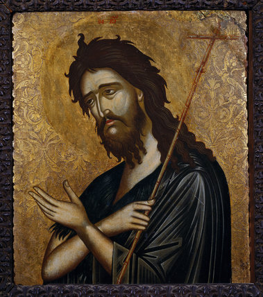 ST JOHN THE BAPTIST - icon given to Churchill by Archbishop Damaskinos, Head of the Greek Orthodox Church