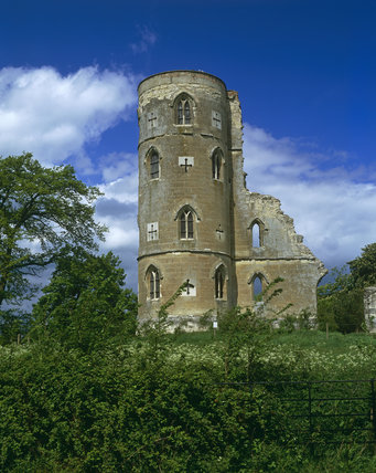 The Gothic Tower, in May, on the Wimpole Estate