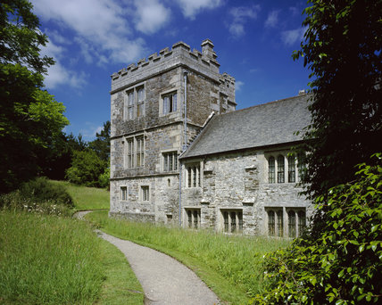 The North West Tower at Cotehele, thought to have been added in the 1620s, near Saltash, Cornwall