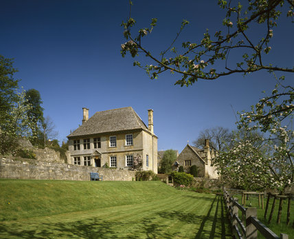 Exterior of Snowshill Manor, a beautiful Cotswolds manor house near Broadway, Gloucestershire