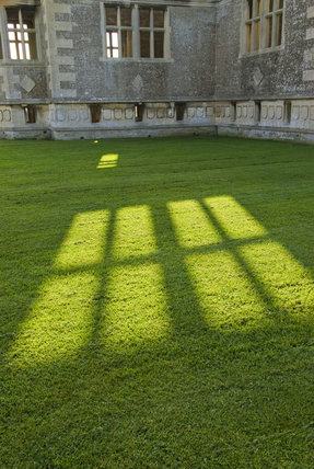 Long shadows at Lyveden New Bield, Peterborough, Northamptonshire