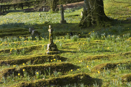 Graveyard in the garden at Lanydrock, Cornwall