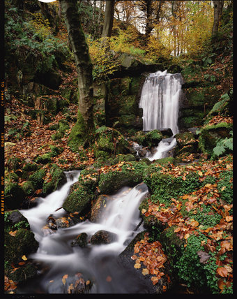 Waterfall at Hardcastle Crags, West Yorkshire