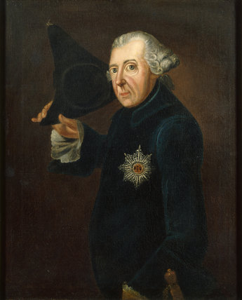 FREDERICK THE GREAT, artist unknown, in the Back Dining Room at Carlyle's House, 24 Cheyne Row, London