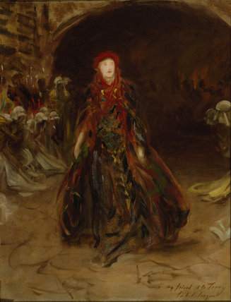 ELLEN TERRY AT LADY MACBETH by John Singer Sargent Inscribed